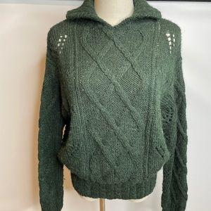RL alpaca green sweater pullover green warm Lauren